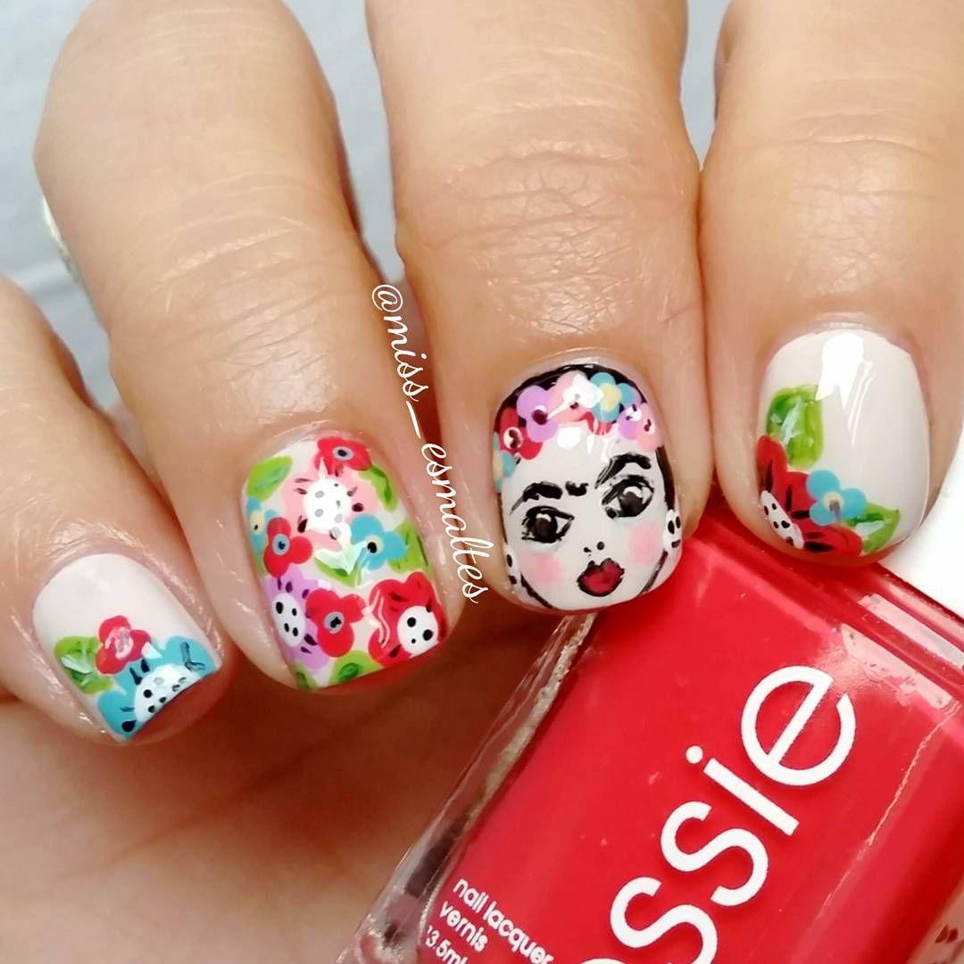 Frida <3 | manicura | Pinterest | Frida, Diseños de uñas y Arte de uñas