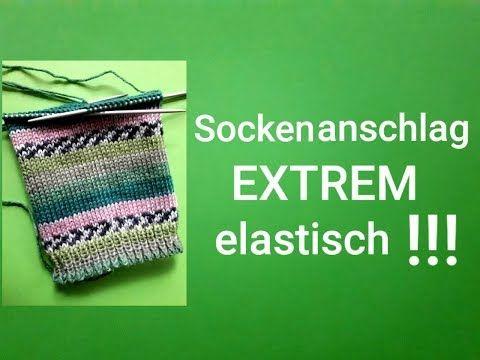 Photo of super elastischer Maschenanschlag für Socken !!!