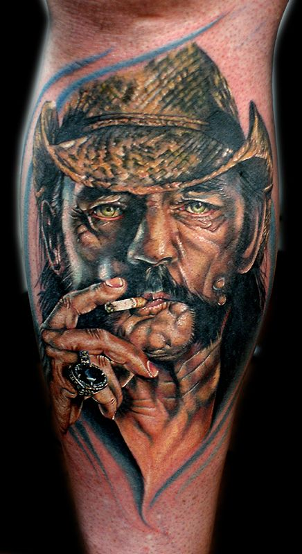 Lemmy From Motorhead Tattoo By Cecil Porter Tattoos And Artwork