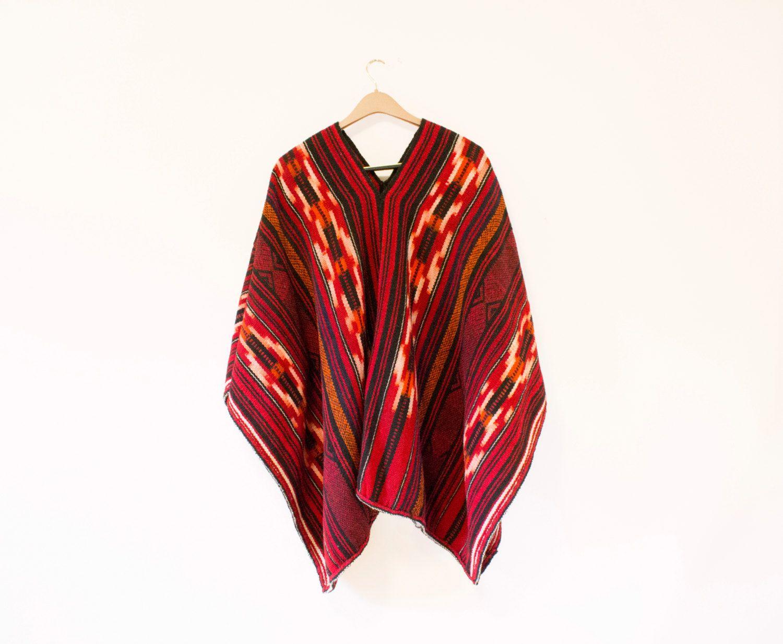 Vintage mexican blanket like