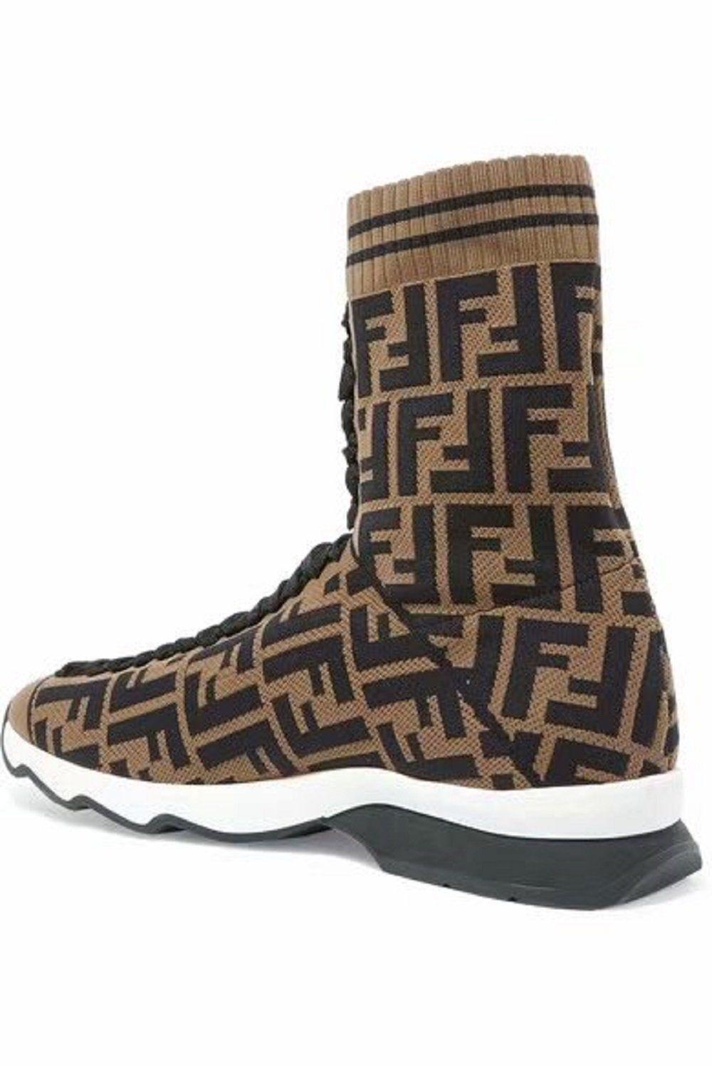 3a20a74637bb Fendi.. Women s Leather High-Top Sock Sneaker Shoes (41EU ...