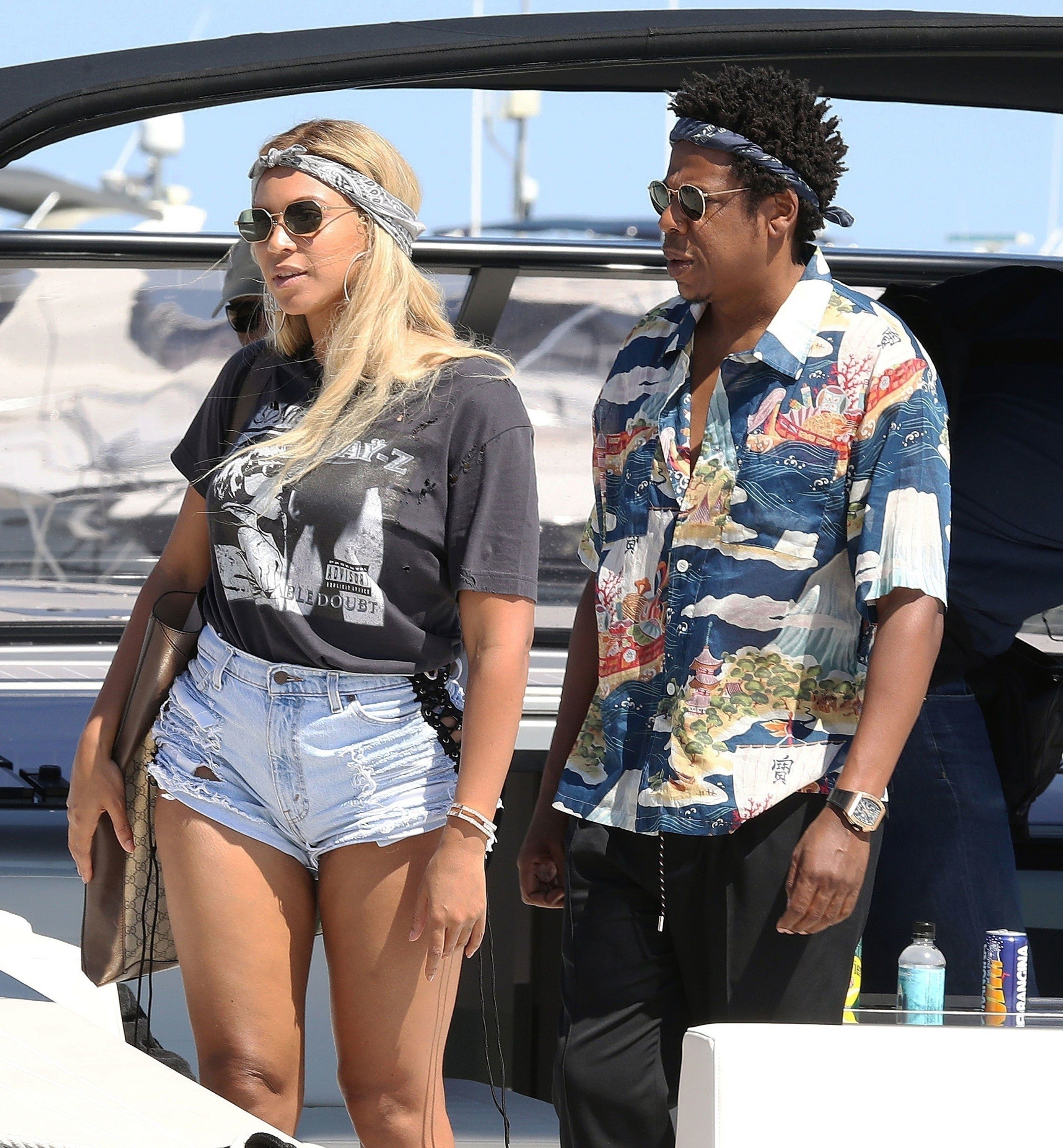 7d1449956a2a6 Of Course Beyoncé Is Wearing Jay-Z Merch - and Jay is wearing Gucci! Just  love this couple!