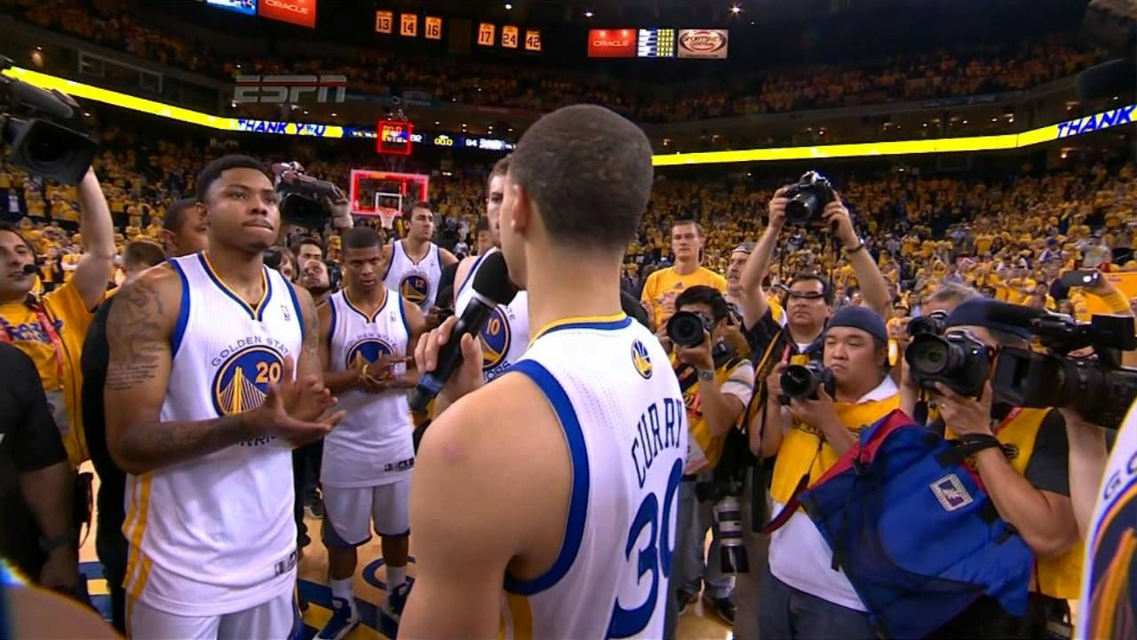 5.17.13 Stephen Curry and the Warriors Thank the Fans