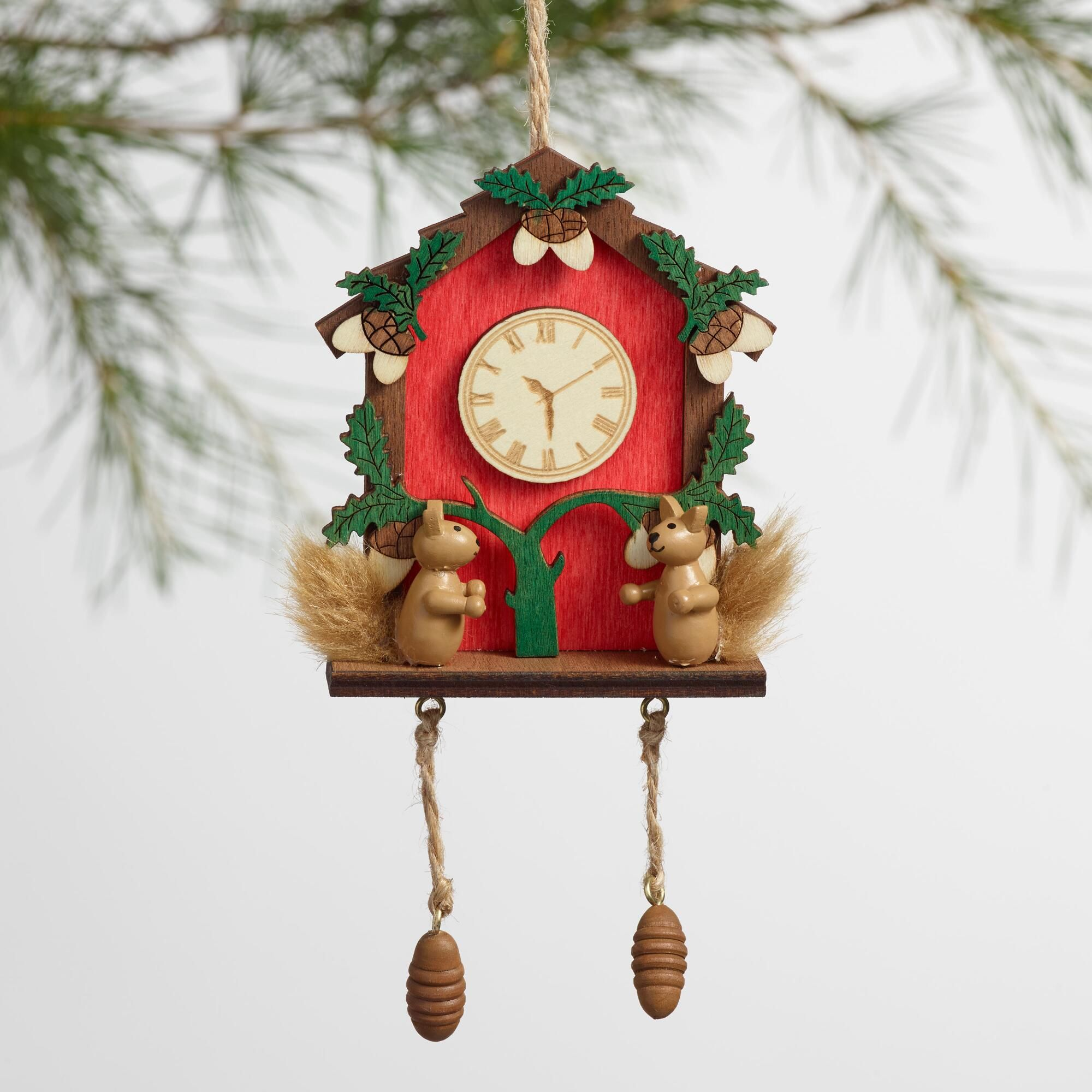 Plaid monograms natural wood ornaments feathers and i couldn t - Ornament