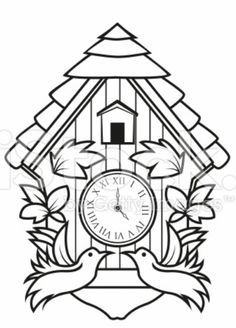 Cuckoo Clock Template Diy Font Border Amp Design