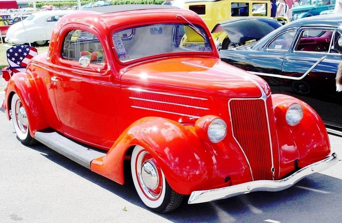 Ford Coupe red Antique Car 1936 Model | Antique Car and Bike ...