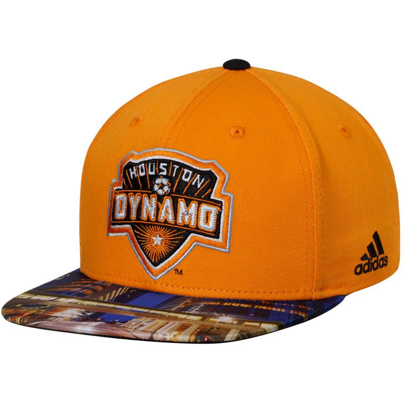 6dc740957db Houston Dynamo adidas Map Snapback Adjustable Hat - Orange