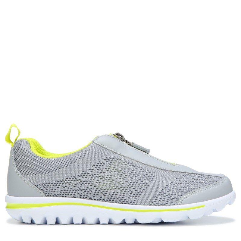 811d33da77e Propet Women s Travelactiv Zip Narrow Medium Wide Slip On Sneakers  (Silver Lime