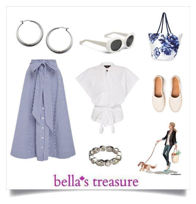 """""""Summer Styling with Bella's Treasure"""" by freida-adams ❤ liked on Polyvore featuring Lisa Marie Fernandez, Joules, Silver, earrings, hoop, sterling and bellastreasure"""