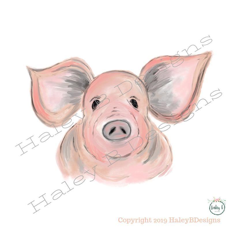 Pig Face Digital File Digital Download Png Pig Sublimation Etsy Pig Artwork Pig Pig Face