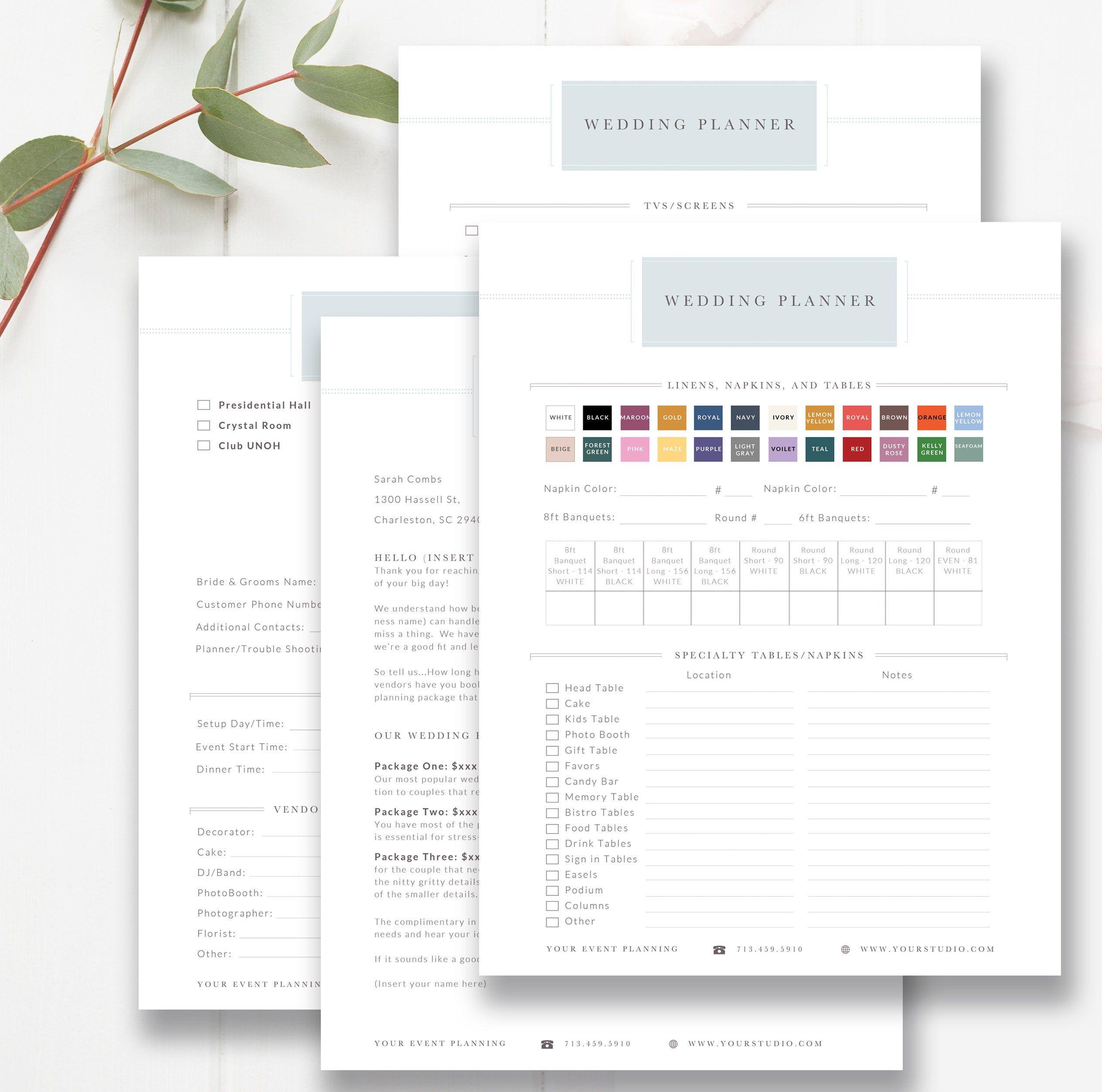Wedding Planner Client Questionnaire, Wedding Planning