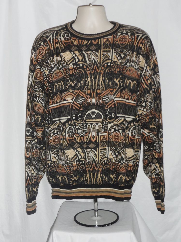 241952ff73b3bf Tricots St Raphael Sweater Mens Size Large L Cotton Multi Color Crew Neck  #TricotsStRaphael #Crewneck