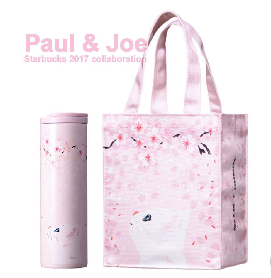starbucks 2017 collaboration paul u0026 joe tote bag ss troy tumbler