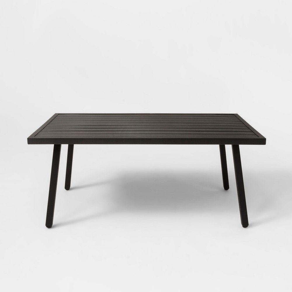 Fairmont Patio Coffee Table Black Threshold Steel Coffee Table
