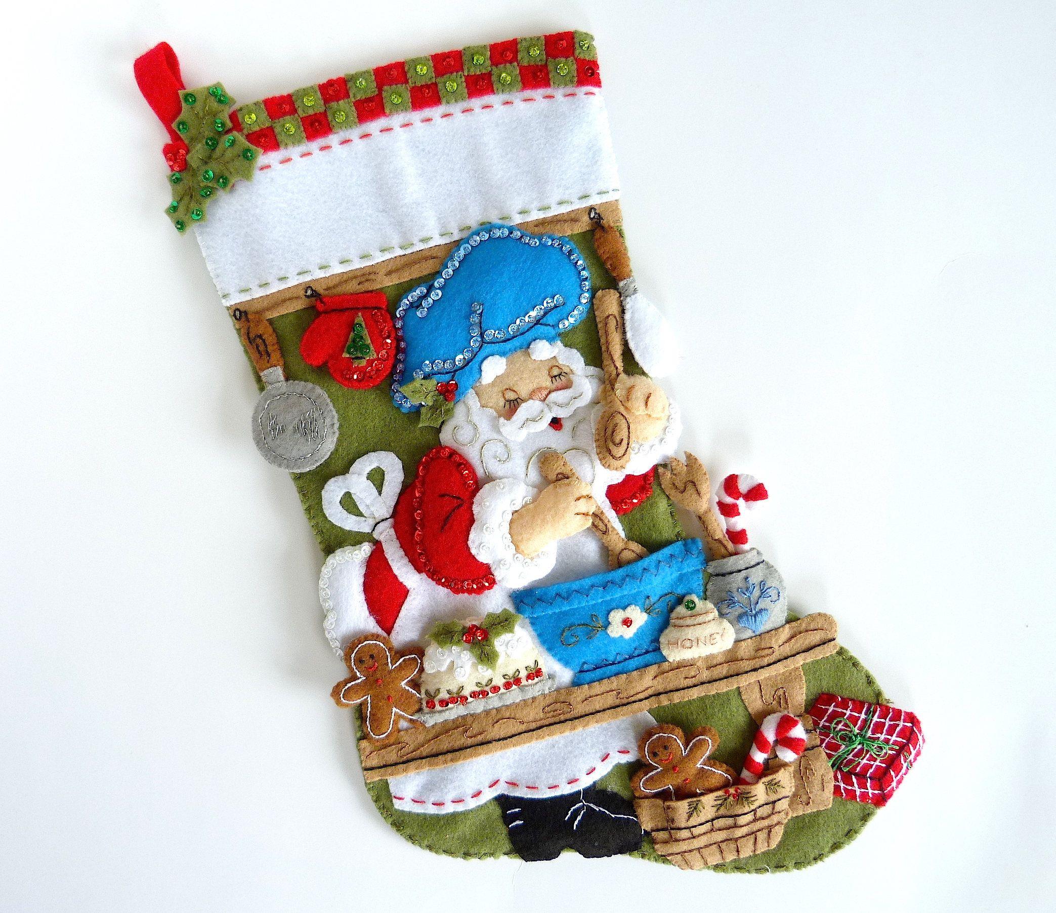 Bucilla Christmas Stocking Personalized Finished Bucilla Stocking ...