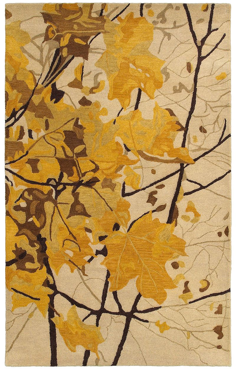 Rizzyhome Rugs Hd 8084 Wool Area Rugs Area Rugs Yellow Area Rugs