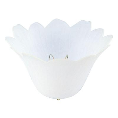 Westinghouse 4 3 4 In Polypropylene Satin Tulip Clip On Shade With 8 In Width 8149900 The Home Depot Light Clips Ceiling Light Shades Light Accessories