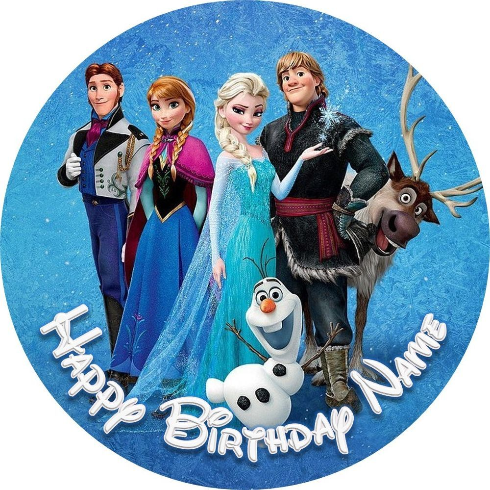 "Frozen Olaf Personalised Cake Topper 7.5/"" Olaf Edible Wafer Paper Party/'s"