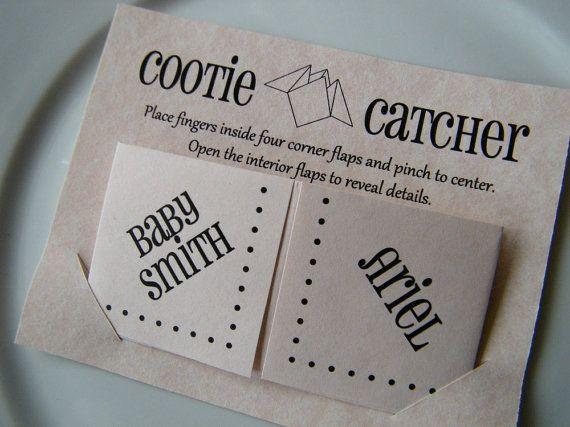 Cootie Catcher Wedding Invitation: Cootie Catchers Origami Baby Shower Invitations / By