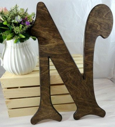 Wedding Signs Wooden Letter Guestbook Large Wooden by AllWoodToo  $39.99  Click on photo to BUY NOW!  Are you wanting to created a non-traditional wedding day? This lovely Victorian wood letter will be a perfect alternative to the   traditional guests books. #allwoodtoo sells a variety of items for your wedding needs.  Click here: allwoodtoo.etsy.com to see your options.