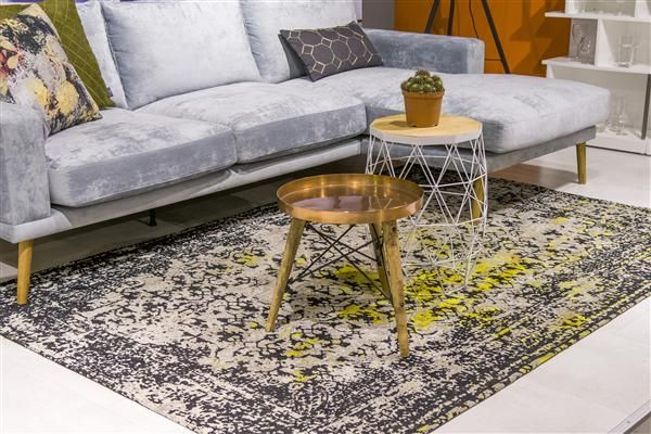 Carpet Dulce in yellow combined in a modern ambiance of @xooon
