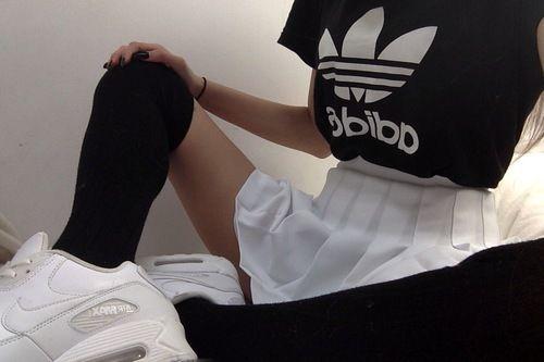 Image de adidas, grunge, and black