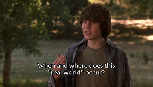 """Almost famous. Pennys constant talk of """"the real world"""" as"""