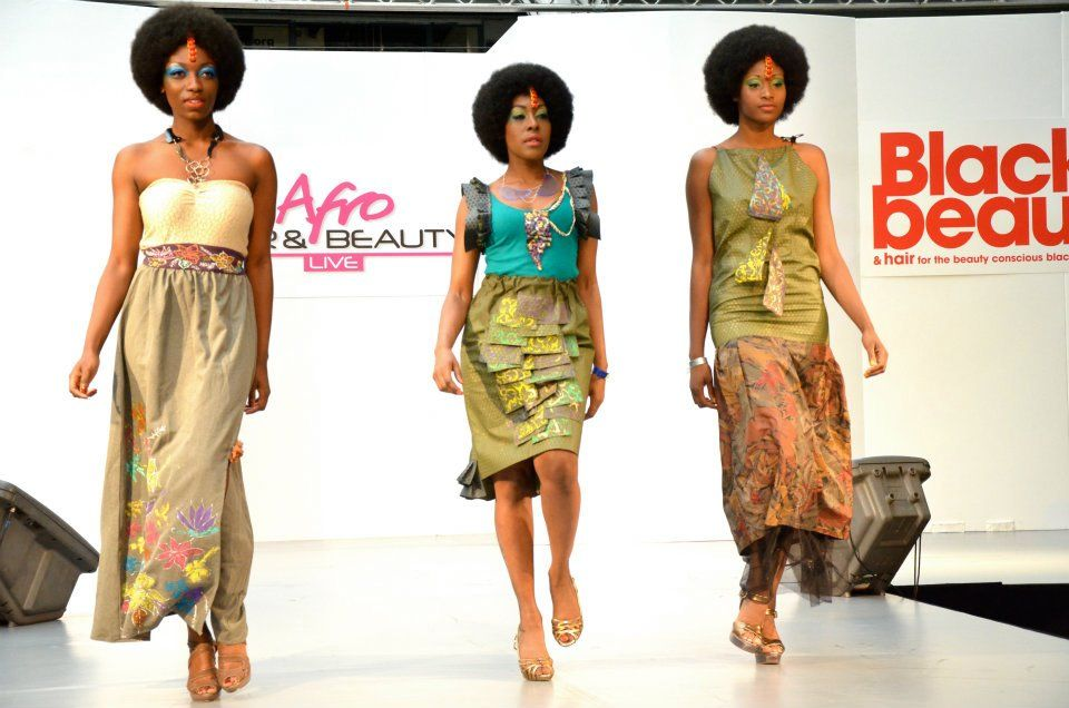 fears models styled with afro hair