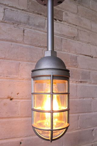 Cage Light Industrial Pendant Pole Mount With Images Cage
