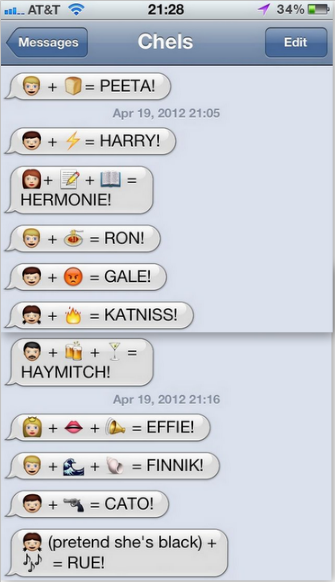 Pin By Mariah Jacques On Platform 9 Funny Texts Hunger Games Funny Emoji Texts