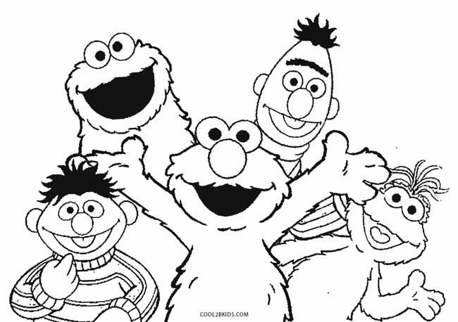 Elmo And Friends Coloring Pages Sesame Street Coloring