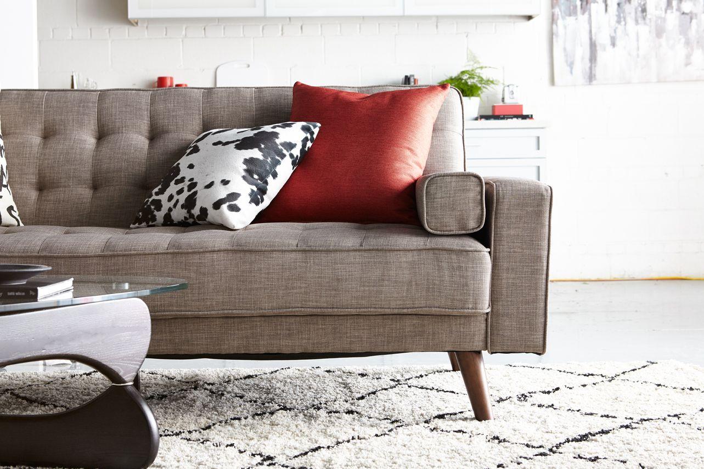 Avery Linen Look Fabric Futon Grey In 2019 Small E