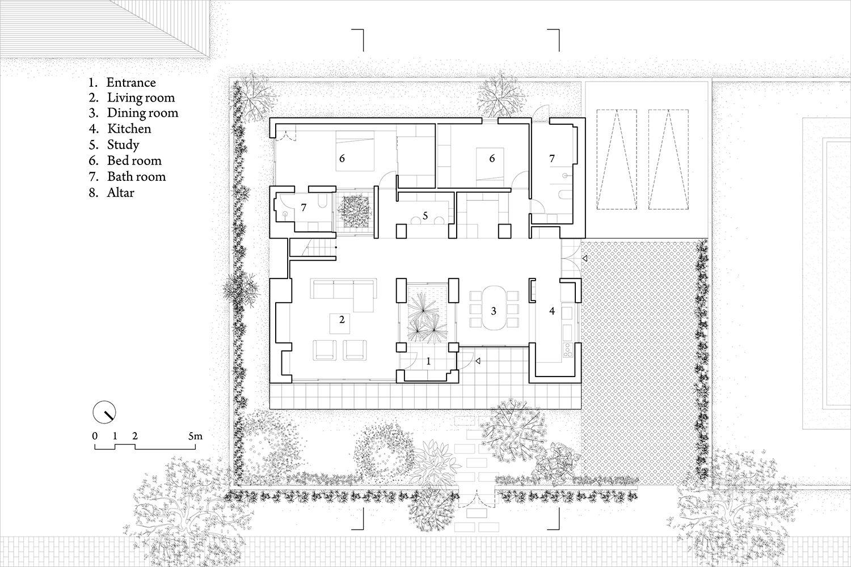 gallery of a house in nha trang icada vtn architects 15 gallery of a house in nha trang icada vtn architects 15 roof gardensground floorvietnamfloor planshouse