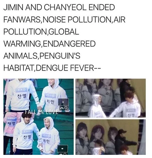 Y R They Like This Sehun And Yoongi Will Be Jealous Bts And Exo Bts Memes Chanyeol