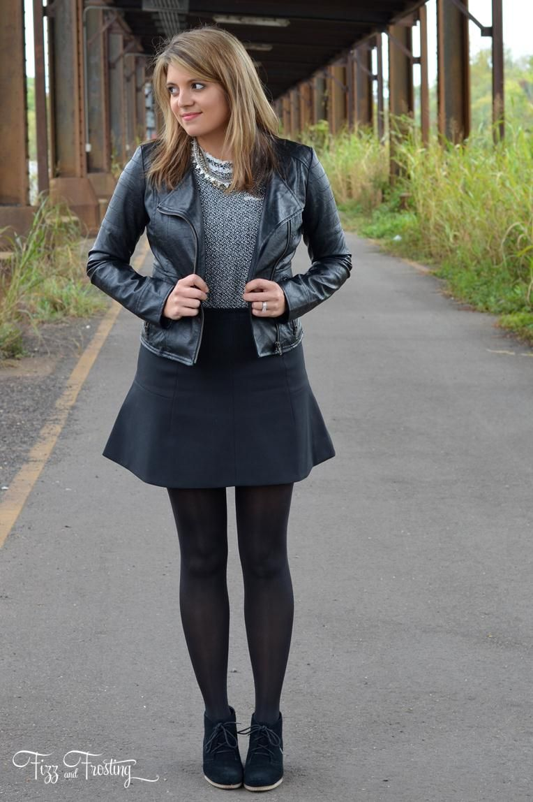 Black dress with black tights underneath