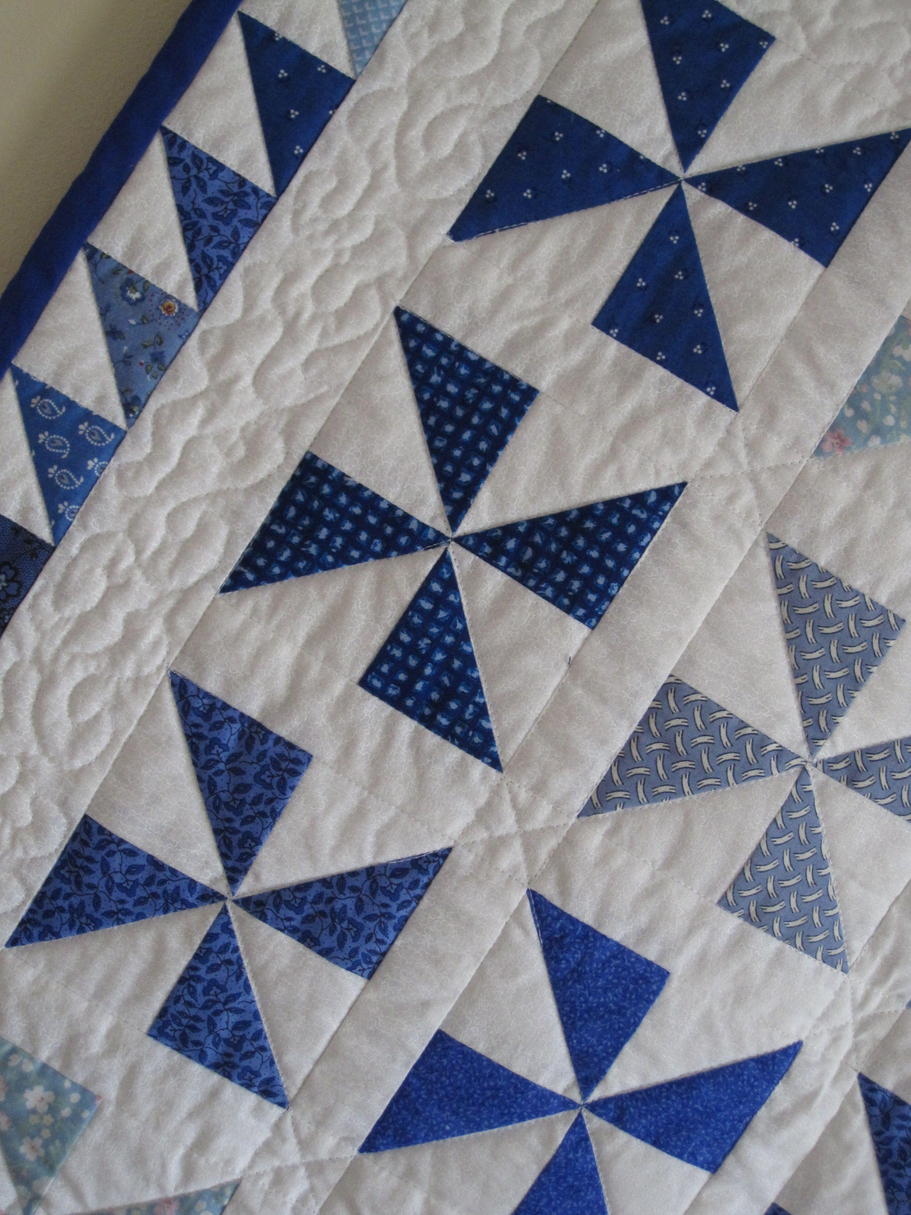 Pinwheel Quilt Detail