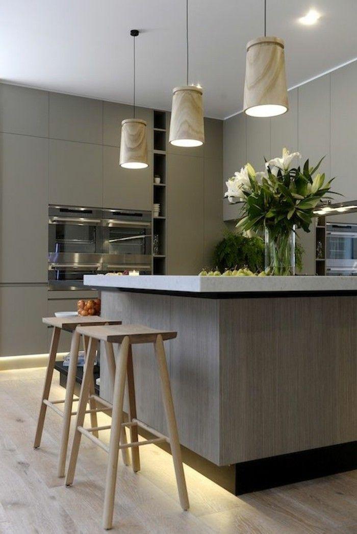 La cuisine équipée avec îlot central - 66 idées en photos - Archzinefr - Cuisine Amenagee Avec Ilot