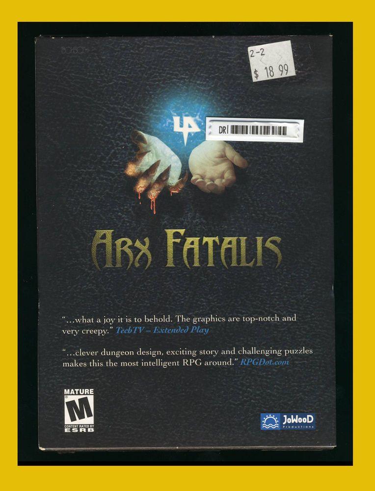 Arx Fatalis Pc 2002 First Person Rpg Windows 98 Me 2000 Xp