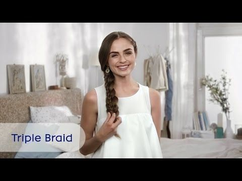 Triple Braid | Flechtfrisur mit schönen Zöpfen | NIVEA Hair Tutorial - YouTube