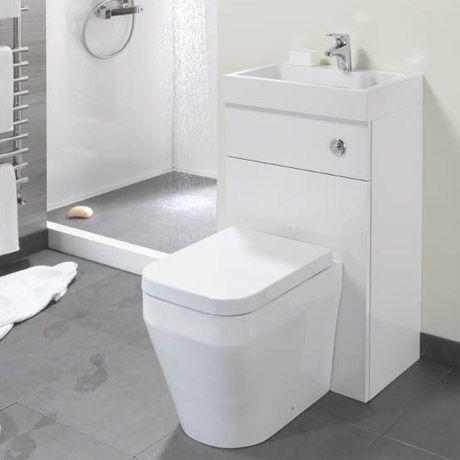 eco bathrooms 500 gloss white combined washbasin & wc pan