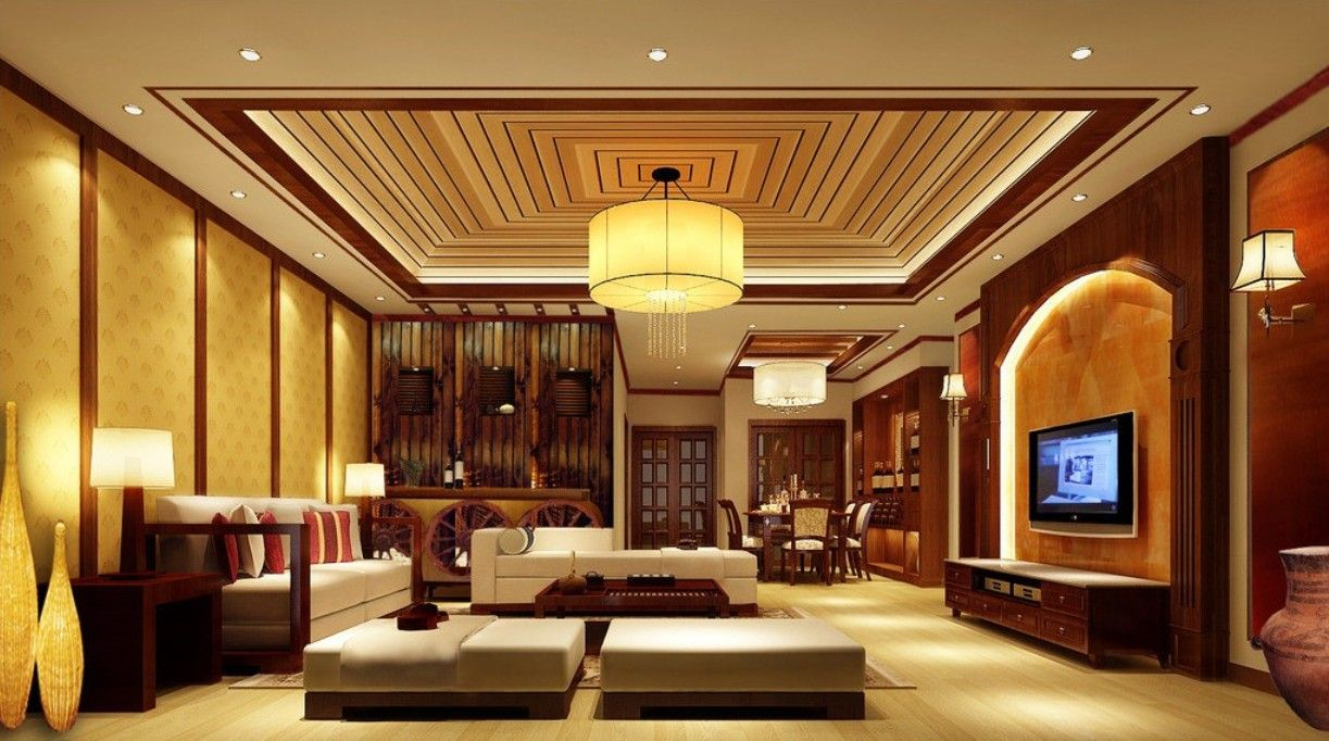 Accesories decors classic chinese living room lighting for Living room overhead lighting