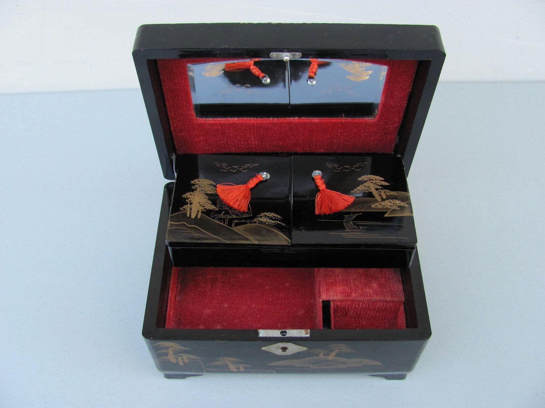vintage japanese jewelry box with music childhood flashback