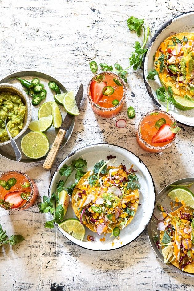 Grilled Chicken and Corn Relish Tostadas via Bakers Royale /