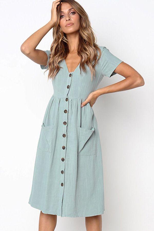 Midi dress casual, Dresses casual boho