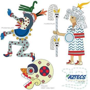 Aztec Gods Clipart