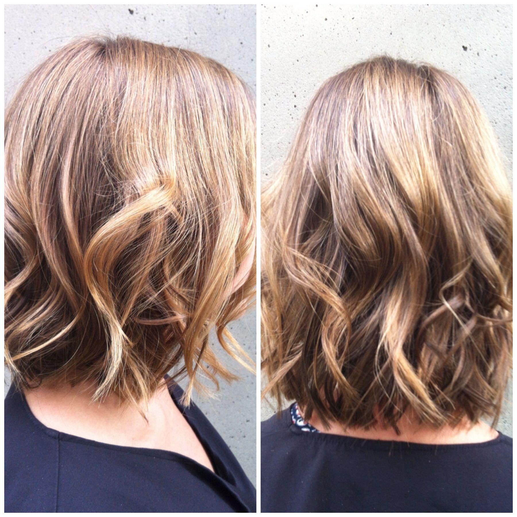 bob, short hair, waves, flat iron curls,
