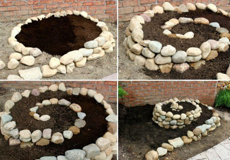 Kräuterspirale bauen – Eine schnelle Anleitung und Ideen für Materialien #kräutergartendesign