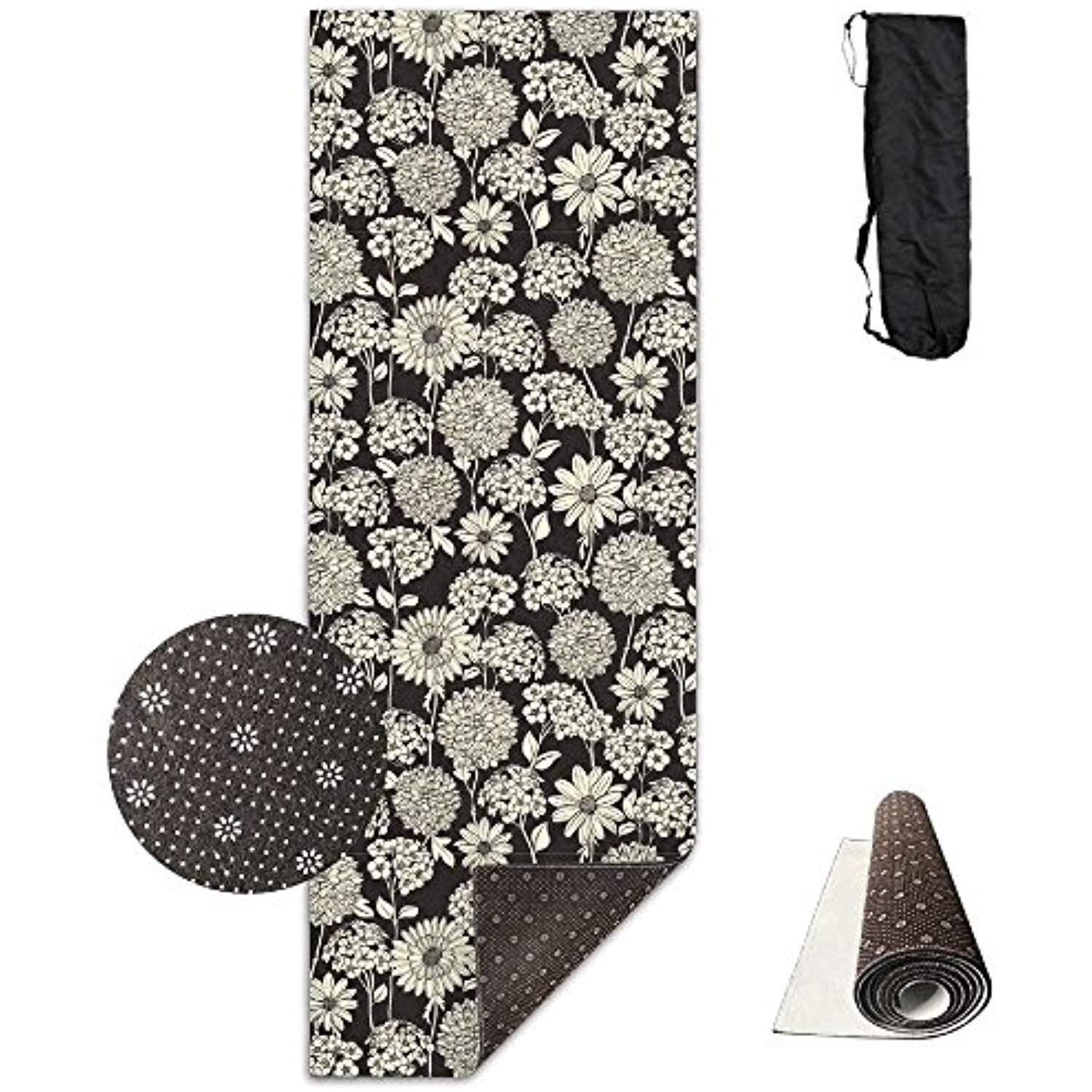 d074fdf82f Unisex Floral Pattern Prints Textures Custom Printing Yoga Mats With Carrying  Bag -- For more