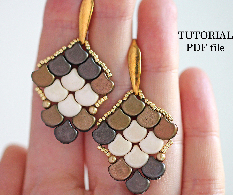 how to make beaded earrings easy