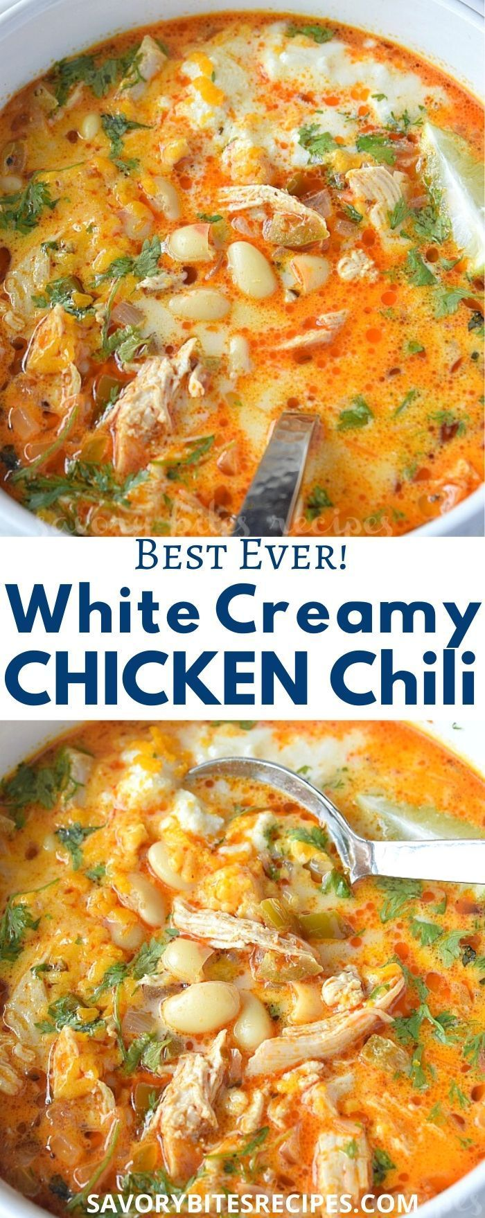 Best Ever White Bean Creamy Chicken Chili!